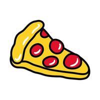 pizza pop art flat style vector