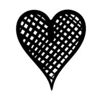 heart love checkered work art silhouette style vector