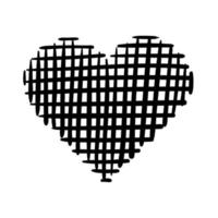 heart love checkered work art silhouette style icon vector