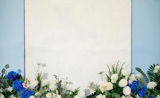 White flower on White background photo