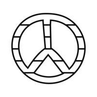 icono de estilo de línea de símbolo de paz y amor vector