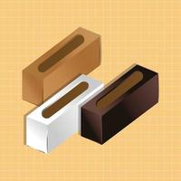 mockup paper napkin holders gradient style vector
