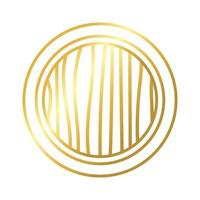 circular frame decoration golden gradient style icon vector