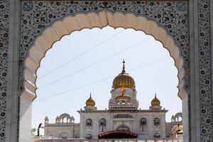 Sri Bangla Sahib Gurudwara Sikh Temple New Delhi India photo