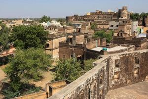 View of Castle from Haveli in Mandawa Rajasthan India photo