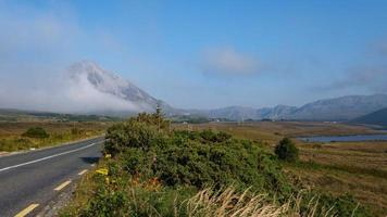 View of Mount Errigal Donegal Ireland photo