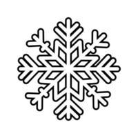 happy merry christmas snowflake line style icon vector