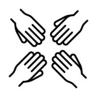 equality people hands human rights day line icon design vector