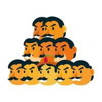ravana with ten heads character vector