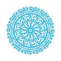 blue mandala floral ethnicity isolated icon vector
