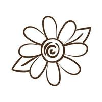 sunflower plant line style icon vector