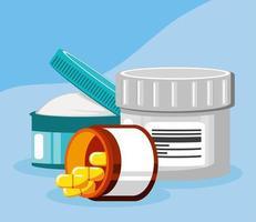 medicine products healthcare vector