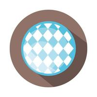 traditional blue checkered pattern block and flat icon vector