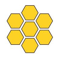 forms of honey sweet isolated icon vector