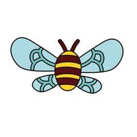 bee insect flying isolated icon vector