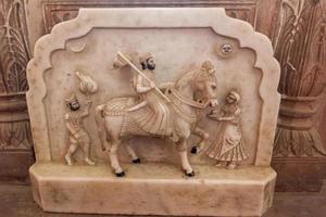 Estatua en Fort Bikaner en Rajasthan, India foto