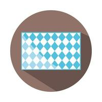 traditional blue checkered pattern shape block and flat icon vector
