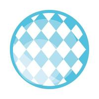 traditional blue checkered pattern flat icon design vector