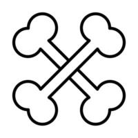 happy halloween crossed bones trick or treat party celebration linear icon design vector