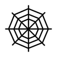 spider web icon on white background linear icon design design vector