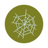 spider web icon on white background flat and block icon design vector
