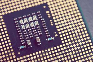 procesador de computadora con chip de cpu foto