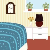 home bedroom drawers vector