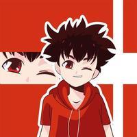 manga boy kid vector