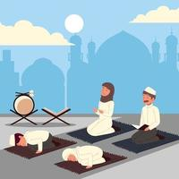 muslim culture people vector