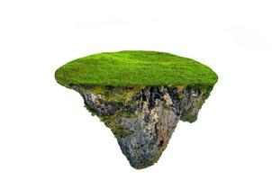 fantasy floating island with natural grass Isolate photo