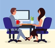 job interview meeting vector