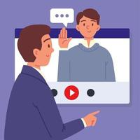 job interview employment vector