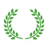 icono de hojas de corona vector