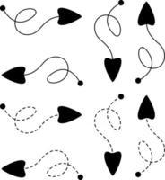 Set of Arrow in Line Style vector