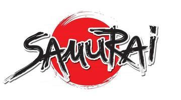 Text Samurai Line Brush vector