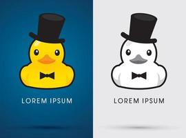 Duck with Hat and Tuxedo vector