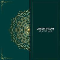 Luxury ornamental mandala background with arabic islamic east pattern style vector