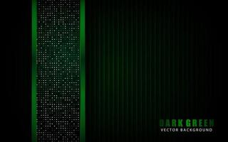 Modern green background vector on dark space with abstract style for design template. Texture with green glitters dots element decoration.