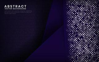 Modern navy and purple background vector overlap layer on dark space with abstract style for background design. Texture with silver glitters dots element decoration.