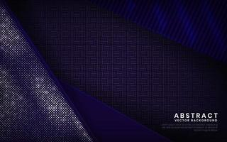 Modern navy blue and purple background vector overlap layer on dark space with abstract style for background design. Texture with white and silver glitters dots element decoration.