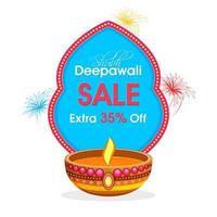 Diwali decorative background design vector