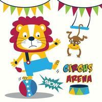 animales circo gracioso animal dibujos animados vector