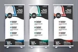 Free Business Roll up stand banner template design with vector