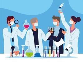 scientific chemical laboratory vector