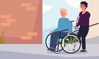 men handicapped characters vector