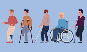 men with disabilities vector