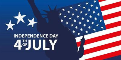 independence day 4th july vector