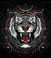 The Tiger head illustration design for T shirt, mascot, logo team, sport vector