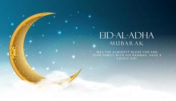 Eid Al Adha. Eid mubarak islamic greeting card , poster vector