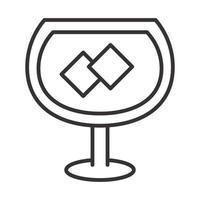 cocktail icon ice cubes drink liquor refreshing alcohol line style design vector